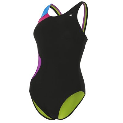 Aqua Sphere Amelia Ladies Swimsuit - Black/Blue