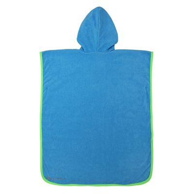 Aqua Sphere Baby Poncho Towel-Blue/Green-Back