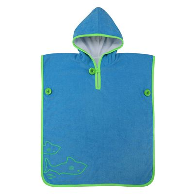 Aqua Sphere Baby Poncho Towel-Blue/Green-Front