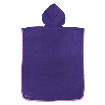 Aqua Sphere Baby Poncho Towel-Purple/Pink-Back
