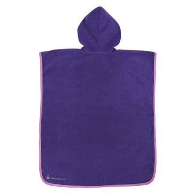 Aqua Sphere Baby Poncho Towel-Purple/Pink-Back