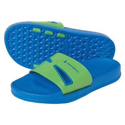 Aqua Sphere Bay Junior Pool Sandals-Blue/Green
