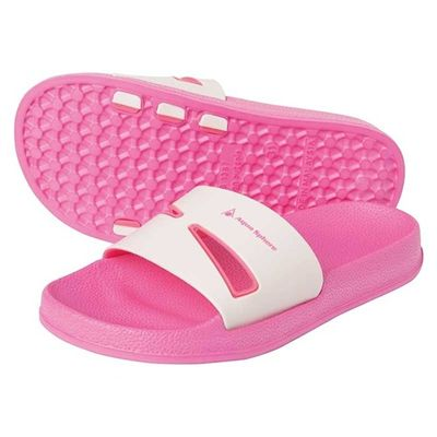 Aqua Sphere Bay Junior Pool Sandals-Pink/White