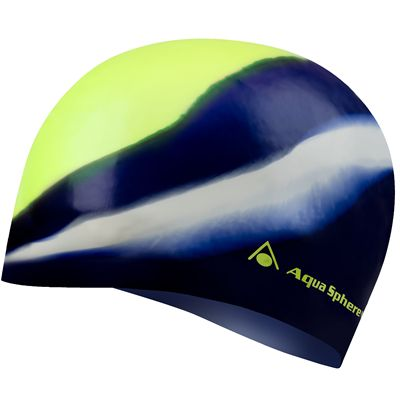 Aqua Sphere Classic Junior Swimming Cap - Navy/Yellow