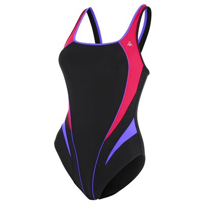 Aqua Sphere Elena Girls Swimsuit - Black/Purple