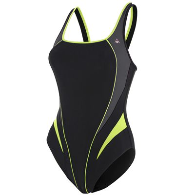 Aqua Sphere Elena Girls Swimsuit - Black/Yellow
