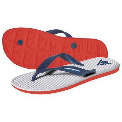 Aqua Sphere Hawaii Pool Sandals-White/Red/Blue