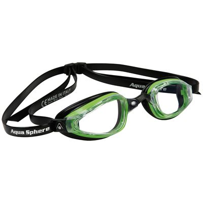 Aqua Sphere K180+ Goggles with Clear Lens Green Black