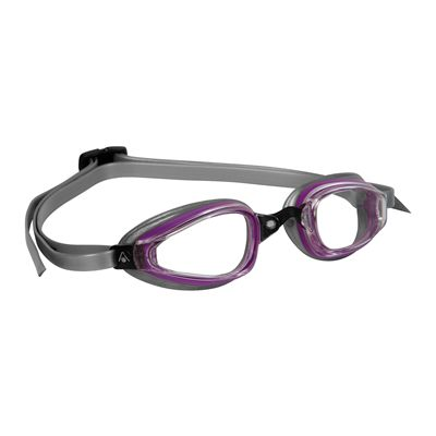 Aqua Sphere K180+ Lady Goggles with Clear Lens Purple Grey
