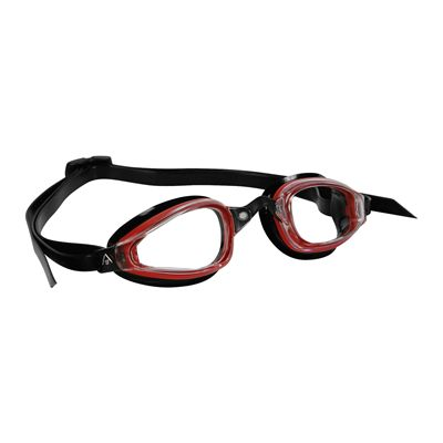Aqua Sphere K180 Goggles with Clear Lens Black Red