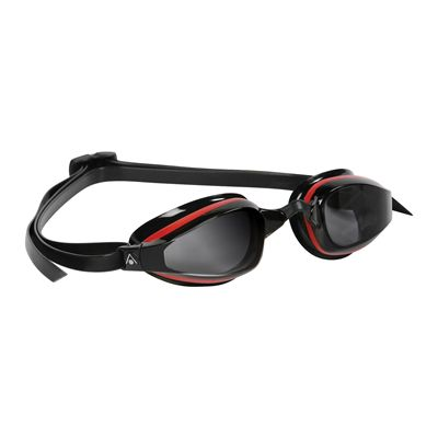 Aqua Sphere K180 Goggles with Tinted Lens Black Red