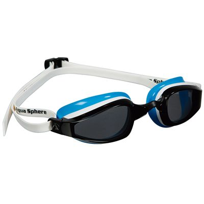 Aqua Sphere K180 Ladies Swimming Goggles - Tinted Lens white blue