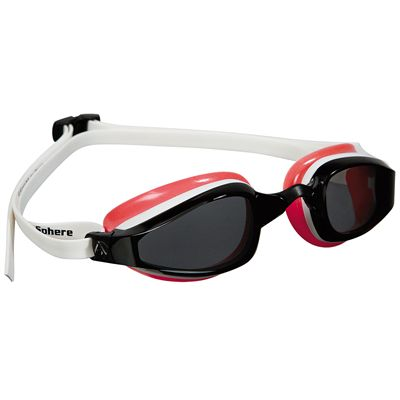 Aqua Sphere K180 Ladies Swimming Goggles - Tinted Lens white red