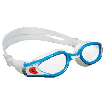 Aqua Sphere Kaiman Exo Small Fit Swimming Goggles - Aqua/White