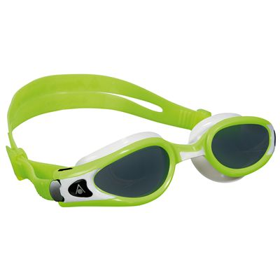 Aqua Sphere Kaiman Exo Small Fit Swimming Goggles - Tinted Lens - Lime/White