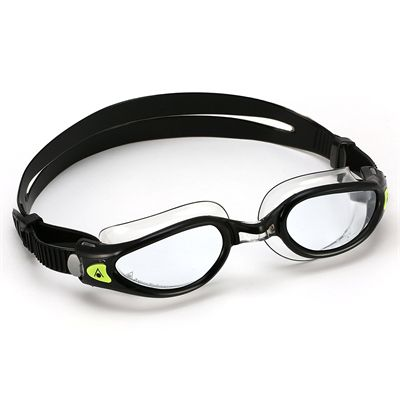 Aqua Sphere Kaiman Exo Swimming Goggles - Clear Lens - Black Green