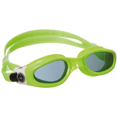 Aqua Sphere Kaiman Small Fit Swimming Goggles-Tinted Lens-Green/White