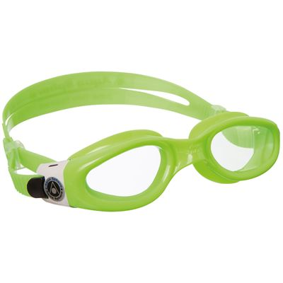 Aqua Sphere Kaiman Small Fit Swimming Goggles-Clear Lens-Green/White