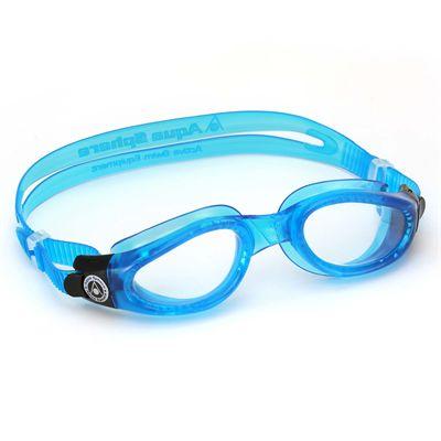 Aqua Sphere Kaiman Swimming Goggles - Clear Lens - Blue