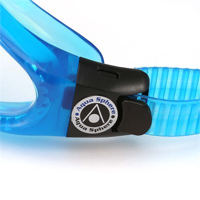 Aqua Sphere Kaiman Swimming Goggles - Clear Lens - Blue - Zoomed