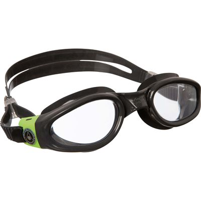 Aqua Sphere Kaiman Swimming Goggles - Clear Lens - Grey