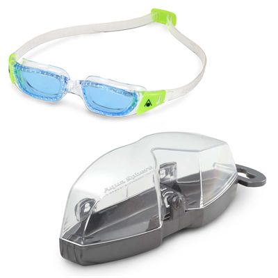 Aqua Sphere Kameleon Junior Swimming Goggles - Clear/Blue - Cover