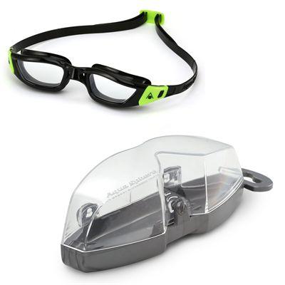 Aqua Sphere Kameleon Swimming Goggles - Black/Clear - Cover