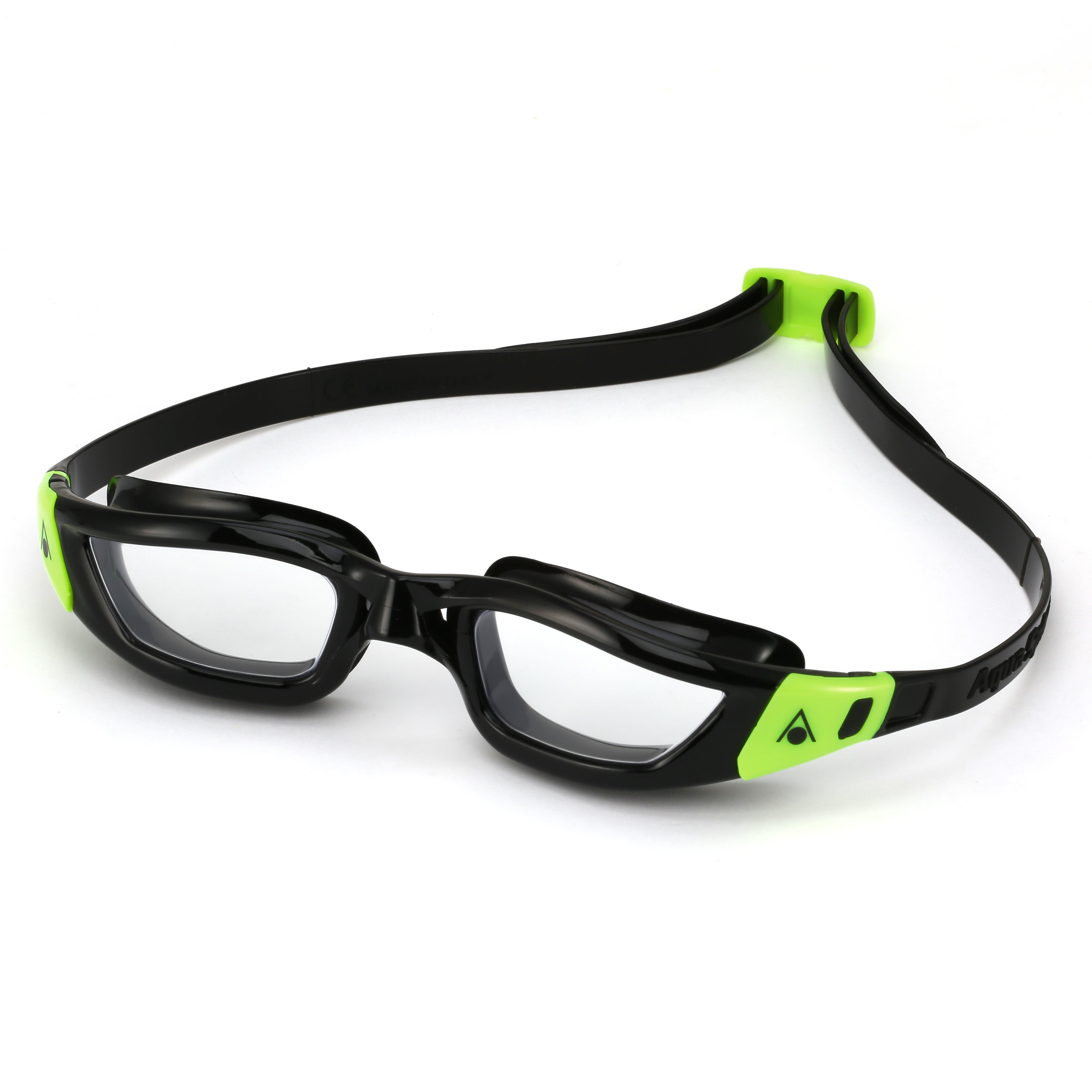 Image of Aqua Sphere Kameleon Swimming Goggles - Black/Green, Clear