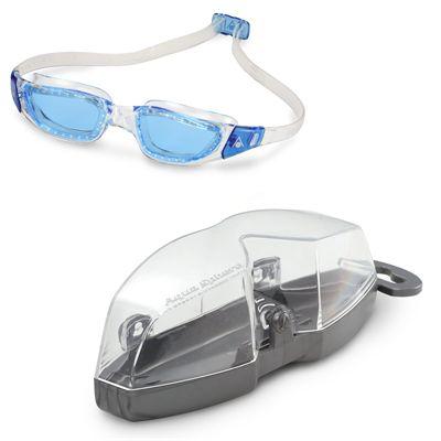 Aqua Sphere Kameleon Swimming Goggles - Clear/Blue - Cover