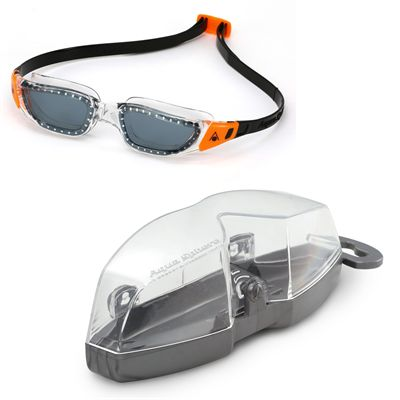 Aqua Sphere Kameleon Swimming Goggles - White/Orange - Cover
