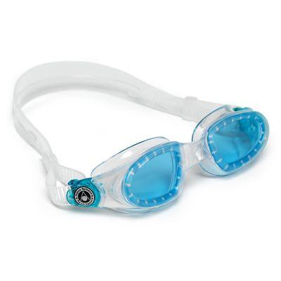 Aqua Sphere Mako Swimming Goggles-Blue Lens-Clear/Aqua