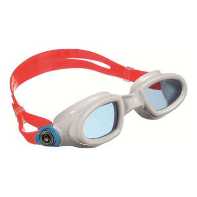 Aqua Sphere Mako Swimming Goggles-Blue Lens-White/Red