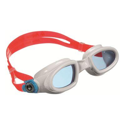 Aqua Sphere Mako Swimming Goggles-Blue Lens-White/Red