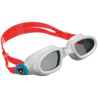 Aqua Sphere Mako Swimming Goggles-Tinted Lens-White/Red