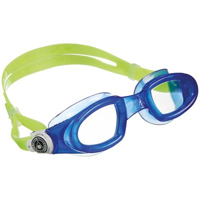 Aqua Sphere Mako Swimming Goggles-Clear Lens-Blue/Green