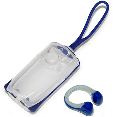 Aqua Sphere Nose Clip - Nave and grey with storage case