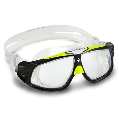 Aqua Sphere Seal 2.0 Goggles with Clear Lens - Black/Lime