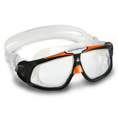 Aqua Sphere Seal 2.0 Goggles with Clear Lens - Black/Orange