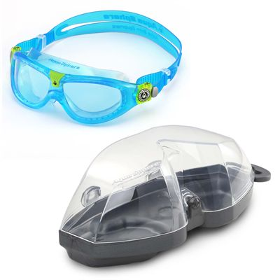Aqua Sphere Seal 2 Kids Swimming Mask - Blue Lens 2018 - Blue - Cover