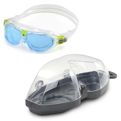Aqua Sphere Seal 2 Kids Swimming Mask - Blue Lens 2018 - Cover
