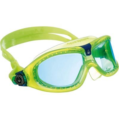 Aqua Sphere Seal 2 Kids Swimming Mask - Blue Lens - Green Frames