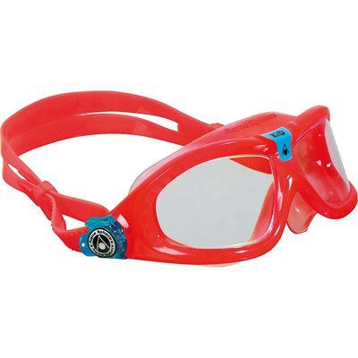 Aqua Sphere Seal 2 Kids Swimming Mask - Clear Lens - Red