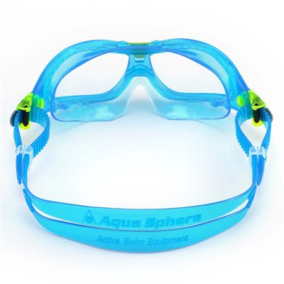 Aqua Sphere Seal 2 Kids Swimming Mask - Clear Lens - Blue - Back