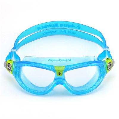 Aqua Sphere Seal 2 Kids Swimming Mask - Clear Lens - Blue - Front