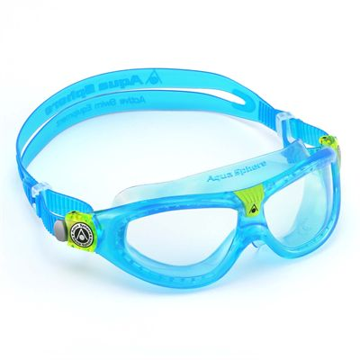 Aqua Sphere Seal 2 Kids Swimming Mask - Clear Lens - Blue - Left