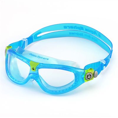 Aqua Sphere Seal 2 Kids Swimming Mask - Clear Lens - Blue