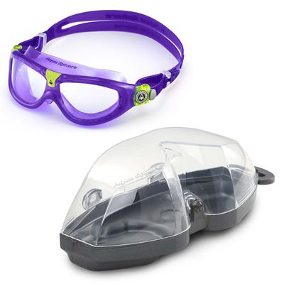 Aqua Sphere Seal 2 Kids Swimming Mask - Clear Lens - Cover