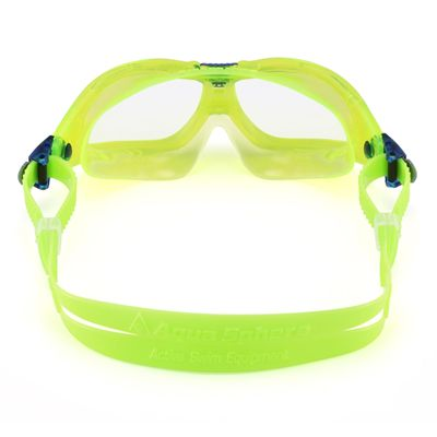 Aqua Sphere Seal 2 Kids Swimming Mask - Clear Lens - Lime - Back