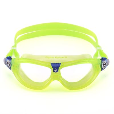 Aqua Sphere Seal 2 Kids Swimming Mask - Clear Lens - Lime - Front