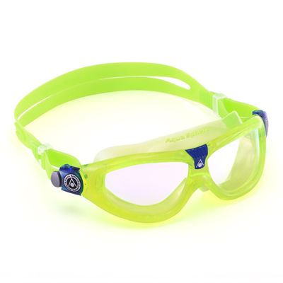 Aqua Sphere Seal 2 Kids Swimming Mask - Clear Lens - Lime - Left